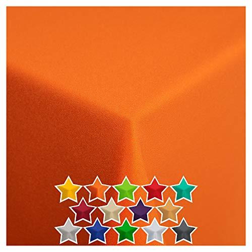 StoffTex Tischdecke Tischläufer Tischtuch Tischwäsche Tischdekoration Tafeltuch (Orange, 140 x 200 cm)