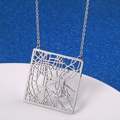 Madrid Spanien Stadtplan Halskette Grafik Geometrischer Schmuck Ihr Lieblingsplatz Auf Der Erde Madrid Anhänger Halskette Geschenk Für Sie