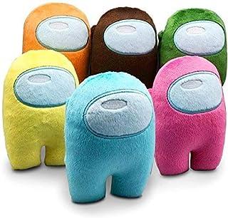 Astronaut Among Us Plush Doll Soft Pillow Stuffed Plush for Game Fans Crewmate (multi-color A, 6pcs 10cm)