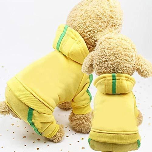 Dog kleding, 2 stuks Pet Dog kleding for Coat honden Overalls Pet Jumpsuit Puppy Cat Kleding For Dog Dik Huisdieren Honden Kleding, Maat: XXL, huisdier kleren voor aijia (Color : Yellow)
