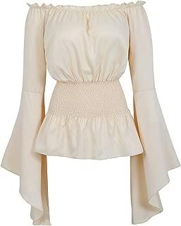 Womens Gothic Renaissance Blouse Long Sleeve Off Shoulder Medieval Victorian Costume Shirt Boho Corset Tops