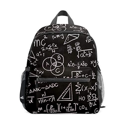 Schulrucksack für Kinder, Mädchen und Jungen, Reisekindertasche, Studentenbüchertasche, lässiger Tagesrucksack, Geschenk, Wissenschaftler, Taschenrechner, schwarz
