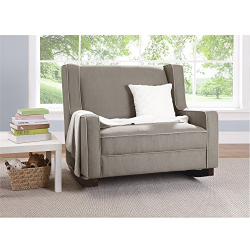 Baby Relax Hadley Double Rocker Chair, Baby Nursery Furniture, Taupe
