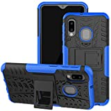 Galaxy A10E Case, Viodolge [Shockproof] Rugged Dual Layer Protective Phone Case Cover with Kickstand for Samsung Galaxy A10e (Blue)