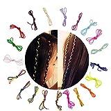 Hixixi 20pcs 39' DIY Colorful Hair Braiding Yarn Hair Rope Band...