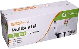 Bolsas de basura DEISS 23-30 litros para Brabantia Touch Bin (tamaño G), 400 unidades