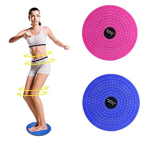PBFONE Twist Waist Disc, Attrezzatura Sportiva Esercizio aerobico Massaggio del Piede Body Shaping Twist Waist Machine Tavola Girevole Twister Femminile (Blu)