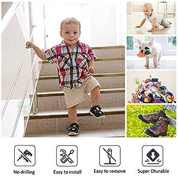 Filet de Protection pour Escaliers, XiYee 3 Mètre Filet de Sécurité, Filet de Protection d'escaliers de Balcon, Balustrade Escalier Filet, Filet Escalier, Filet de Protection pour Balcon