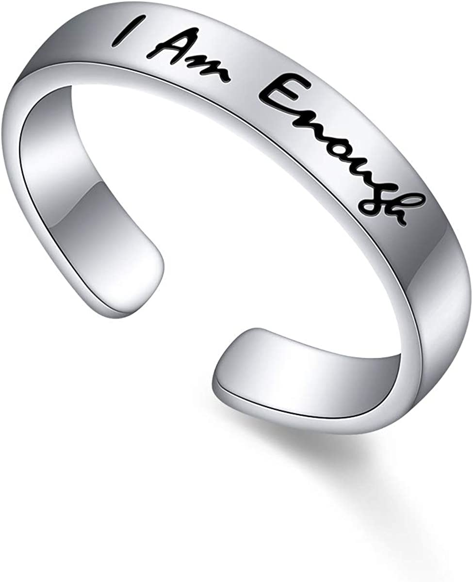 Sterling Silver I Am Max 68% OFF Enough Ring for Max 66% OFF 6 Women Size 8 9 7
