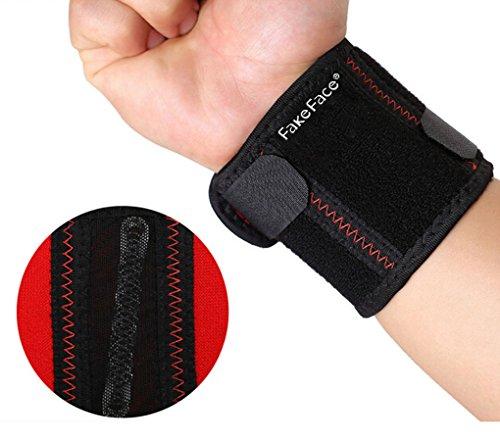 Protège-Poignet Basket Bracelet Équipement de Protection Sport Attelle Poignet de Force Bandage Protecteur Poids Support Musculation Fitness Respirant Anti Sueur Unisexe Unique Taille