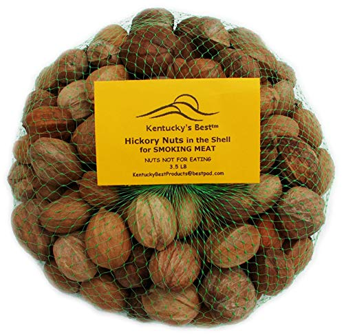 Kentucky's Best Smoking Hickory Nuts in The Shell, 3 Lbs. for BarBQ, Grill, Smoking Meat (Not Eating Nuts)