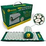 At Home Back and Neck Pain Relief - Acupressure Mat and Neck Pillow Set - Relieves Stress and Sciatic Pain for...