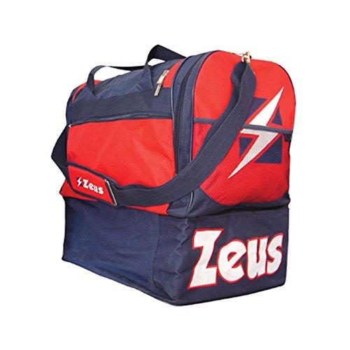 Zeus Herren Sporttasche Schultergurt Umhängetasche BORSA GAMMMA 52X52X36 cm (BLAU-ROT)