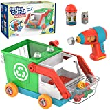 Educational Insights Design & Drill Bolt Buddies Recycling Truck: Easter Toy, Fine Motor Skills & STEM Toy, Perfect Drill Toy for 3+