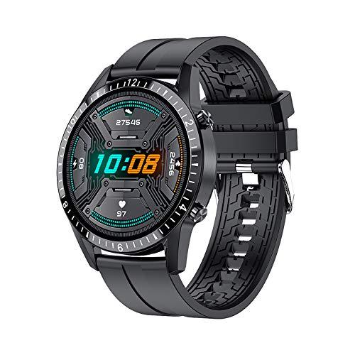 Relojes Inteligentes Hombre, Pantalla Táctil Completa, Elegante Podómetro Clásico Ejercicios, Monitor Frecuencia Cardíaca para Dormir, Cronómetro Hombres Android iOS