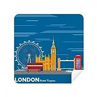ロンドンアイ ダブルデッカーバス グラフィティ メガネ クロス スクリーナー スエード生地 2パック