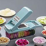 MIAOF - Cortador de verduras 7 en 1, manual ajustable, multifunción, cortador de verduras, molde para alimentos de cocina,...