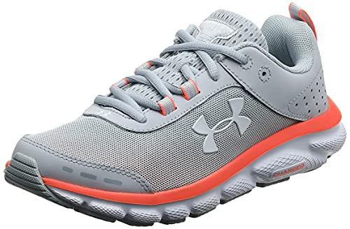 Under Armour Women's Charged Assert 8 Running Shoe , Halo Gray (101)/White, 10