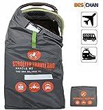 Beschan Standard Doppel XL Kinderwagen Transporttaschen Tragetasche Faltbar mit Schulterriemen