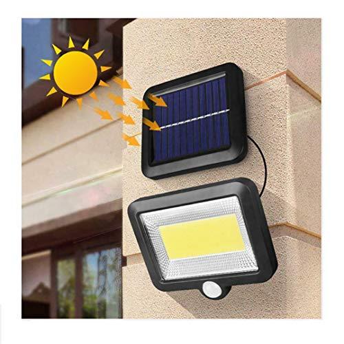 Luzes solares RUIQIMAO para holofotes de segurança para ambientes externos, IP65 à prova d'água, luzes alimentadas por energia solar, 100 luzes LED com sensor de movimento ao ar livre, fácil de instalar, luzes de segurança para porta da frente, quintal e garagem
