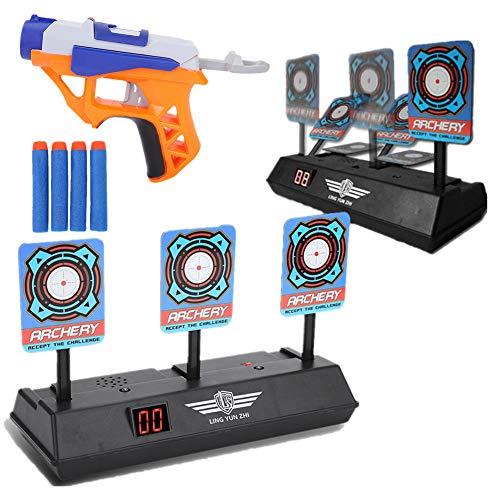 Objetivos de Disparo Eléctrico para Niños Automático con Pistola de Juguete y...