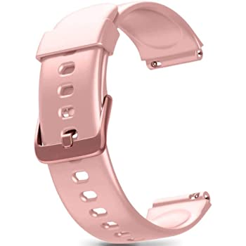 ZURURU Veryfitpro ID205L, ID205S, ID205, ID205U 19mm Smart Watch Replacement Bands Compatible with Letscom, Letsfit, Lintelek, Yamay, Willful Smart Watch Pink