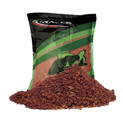 Maver Futtermischung für das Angeln Futter Carp Plus Red 1 kg für Fluss See