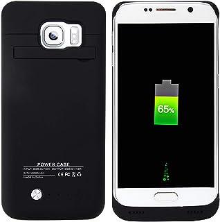 12122c9f8d8 BasicStock Funda Batería Samsung Galaxy S6, 4800mAh Batería Externa  Recargable Ultra Delgada Protector Portátil Carga