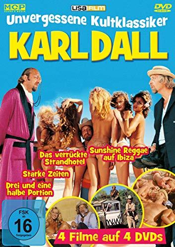 Karl Dall - Unvergessene Kultklassiker - 4 Filme au 4 DVDs (Sunshine Reggae auf Ibiza, Das verrückte Strandhotel, Starke Zeiten, Drei und eine halbe Portion)