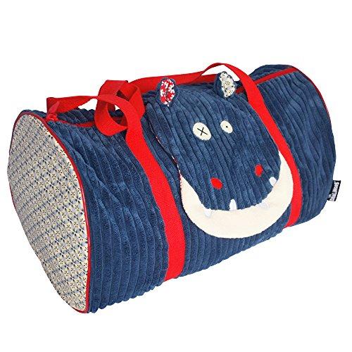 Les Déglingos - Hippipos l'Hippo - Sac voyages - Pour Enfants - Sac week-end - Ideal pour partir en vacances - Spacieux - Ultra doux - Peluche