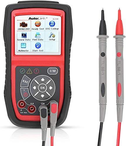 Autel AL539, CAN / OBDII Code Reader Professional Electric Test Tool avec AMPS, Test de circuit