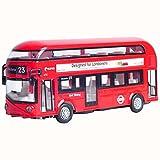 Black Temptation Coche de Juguete para nios con Efectos de luz y Sonido Autobs Rojo de Londres