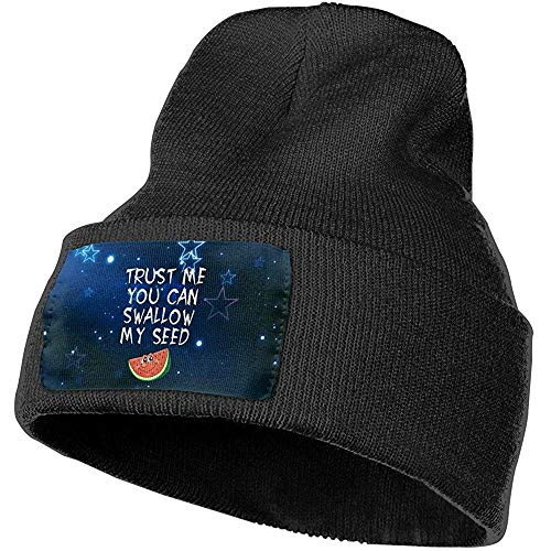 Trust Me You Can Slikken Zaad Winter Beanie Hoed Gebreide Hoed Capwarm Winter voor Mannen Vrouwen,(W) 18Cm X (H) 30Cm