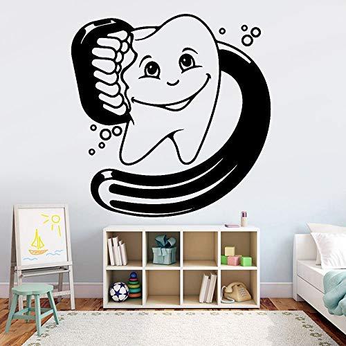 Jsnzff Decoración Dental Dientes de Dibujos Animados Pegatinas de Pared vivero niños decoración del hogar Vinilo Pegatinas de Pared 56x56 cm