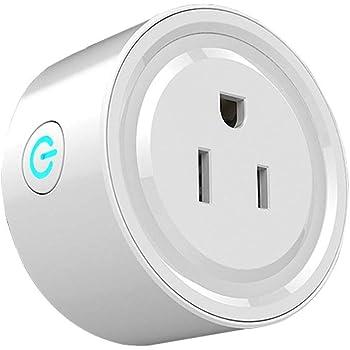 Wi-Fi Smart Plug, Enchufe Inteligente WiFi Mini Outlets Smart Socket Compatible con Amazon Alexa Control por Voz, Google Home y IFTTT,smart plug para Controle Sus Dispositivos eléctricos Desde Cualquier Lugar (1 Unidad)