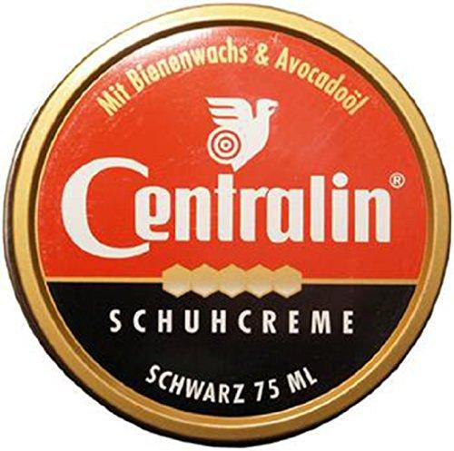 Centralin Schuhcreme schwarz 75ml - Im Set mit 5 Stück