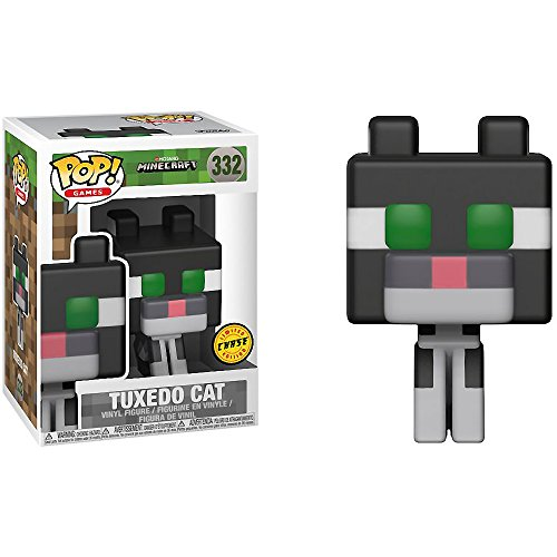 Funko Tuxedo Cat (Chase Edition): Minecraft x POP! Games Vinyl Figure & 1 PET Plastic Graphical Protector Bundle [#332 / 26385 - B]
