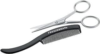 Tweezerman G.E.A.R. Moustache Scissors and Comb Model No. 72031-MG