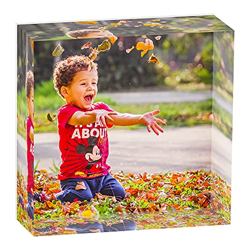 CREATOR Custom Acrylic Photo Cube For Unforgettable Memories   Highly Durable &...