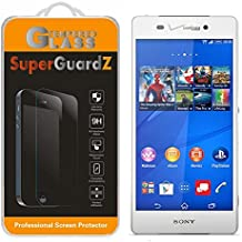 [3-Pack] For Sony Xperia Z3v (Verizon) - SuperGuardZ Tempered Glass Screen Protector, 9H, 0.3mm, 2.5D Round Edge, Anti-Scratch, Anti-Bubble