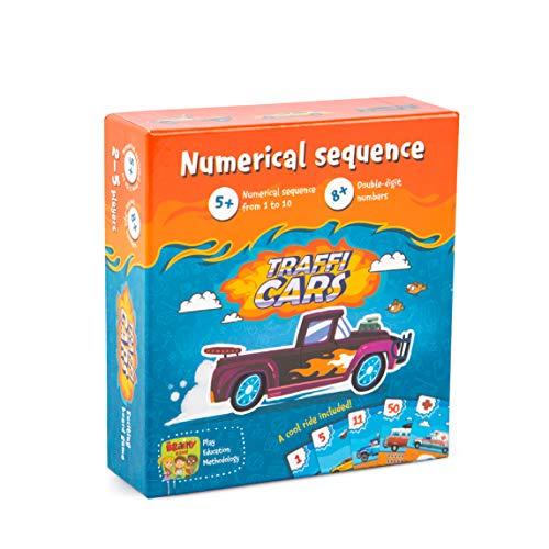 The Brainy Band Trafficars - Lernspiel für Kinder, Autos und Zahlenreihen, Zählen, Rechnen, Kartenspiel, Zahlenreihen bilden, Mathe, Mathespiel für Schüler ab 6 Jahren