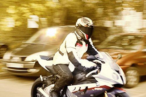 Motorradjacke Textil Wasserdicht Winddicht Mit Protektoren - 8
