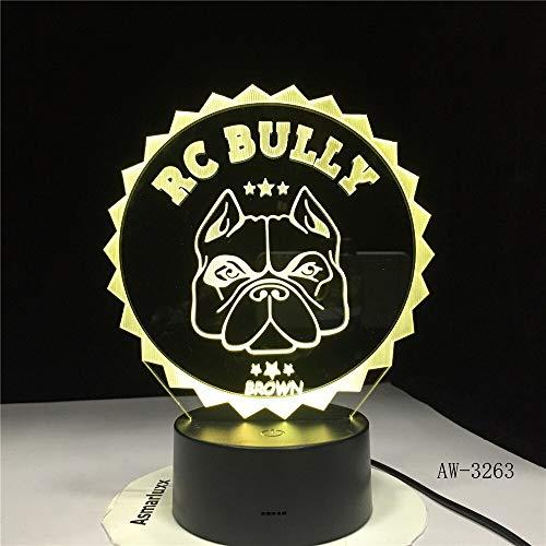 Mops Französisch Bulldogge 3D Tischlampe Kinder Spielzeug Geschenk LED Nachtlicht Haustier Welpe Hund Beleuchtung Inneneinrichtung Farbwechsel XW-Nachtlicht3263