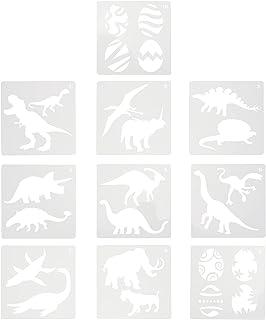 Artibetter Dinosaure Pochoirs Animaux Dessin Modèle Animal Pochoir Enfants Peinture Modèles pour Pierres Étage Mur Tissu B...