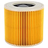 Piezas de repuesto para filtros de aspiradora para Karcher A2004/2054/2204/2656, accesorios de filtro de aspiradora de bloqueo húmedo y seco Buena estabilidad