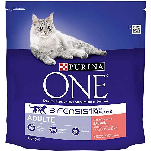 PURINA ONE–Pienso para Gatos Adulto Talla & Sabor Elegir 1,5kg–Lote de 6(9kg)