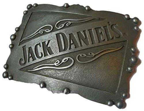Jack Daniel's BUCKLEBOX PLATE OLD NO 7 Gürtelschnalle mit Präsentierständer - Offiziell lizenziertr