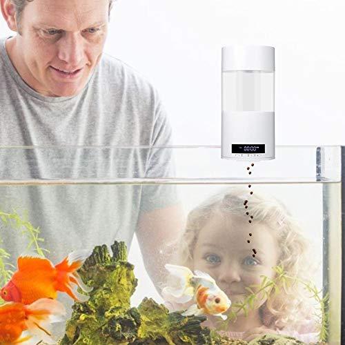 chivalrylist Futterautomat für Fischfutter Futterautomat für Fischfutter Automatisierte Futterspender Fischfutter Multifunktionsfisch