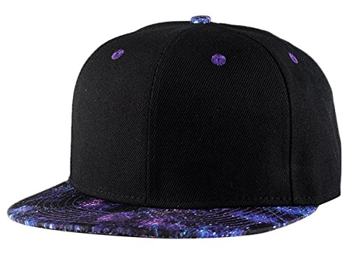 Aivtalk Hiphop Baseball Cap Kappe Mütze Schwarz Snapback Stern Muster Baseballmütze Hut with Adjustable Strap