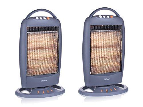 Elektrische verwarming halogeen oscillerend in set van 2 incl. 3 vermogensniveaus 1200 Watt